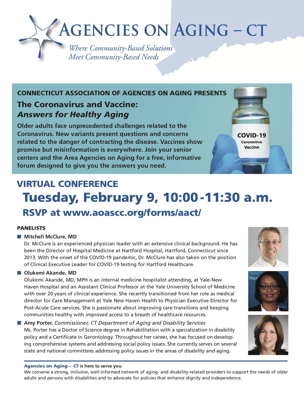 Covid Vaccine Conference Consumer Flyer